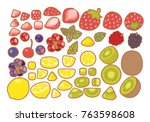 collection set of clean... | Shutterstock .eps vector #763598608