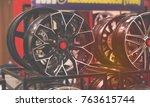 black alloy  decoration ... | Shutterstock . vector #763615744