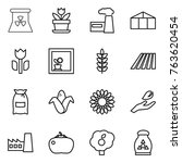 thin line icon set   nuclear... | Shutterstock .eps vector #763620454