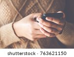 lady putting her ideas and... | Shutterstock . vector #763621150