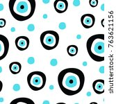 seamless pattern with evil eye  ... | Shutterstock .eps vector #763621156
