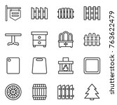thin line icon set   shop... | Shutterstock .eps vector #763622479