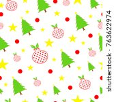 seamless tileable christmas... | Shutterstock .eps vector #763622974