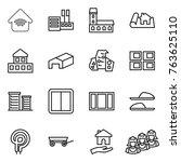 thin line icon set   wireless... | Shutterstock .eps vector #763625110