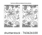 winter holidays themed find the ... | Shutterstock .eps vector #763626100