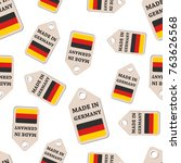 hang tag made in germany... | Shutterstock .eps vector #763626568