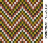 bead texture. african mosaic... | Shutterstock .eps vector #763628110