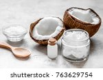 cosmetic concept with fresh... | Shutterstock . vector #763629754