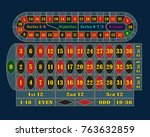 traditional european roulette... | Shutterstock . vector #763632859