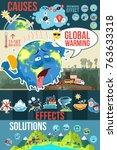 a vector illustration of global ... | Shutterstock .eps vector #763633318