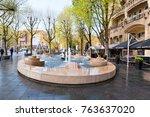 amsterdam april 30  fontain in... | Shutterstock . vector #763637020