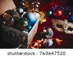 new year still life with... | Shutterstock . vector #763647520