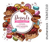 round vector banner with... | Shutterstock .eps vector #763651210