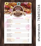 vector design of dessert menu... | Shutterstock .eps vector #763651216