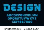 geometric technology font... | Shutterstock .eps vector #763651654