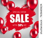 banner sale poster  | Shutterstock . vector #763660624