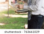 male business man who is in... | Shutterstock . vector #763661029