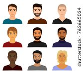 vector illustration set of male ...