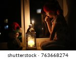 child with candles | Shutterstock . vector #763668274