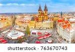 prague  czech republic  bohemia.... | Shutterstock . vector #763670743