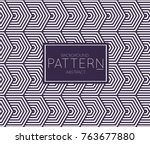 abstract geometric vector... | Shutterstock .eps vector #763677880