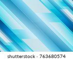 light blue geometric technology ... | Shutterstock .eps vector #763680574