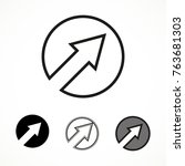 cursor pointer icon in circle.... | Shutterstock .eps vector #763681303