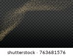 gold glitter texture on a... | Shutterstock .eps vector #763681576
