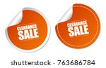 clearance sale stickers | Shutterstock .eps vector #763686784