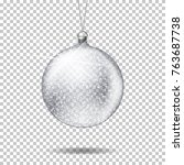vector realistic transparent... | Shutterstock .eps vector #763687738