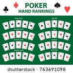 playing cards poker hand... | Shutterstock .eps vector #763691098