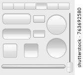 white blank buttons. web... | Shutterstock .eps vector #763692580