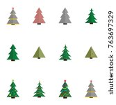 christmas tree vector... | Shutterstock .eps vector #763697329