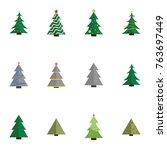 christmas tree vector... | Shutterstock .eps vector #763697449