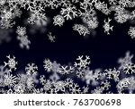 snowfall background. falling... | Shutterstock .eps vector #763700698