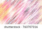 horizontal rectangle stained... | Shutterstock . vector #763707316