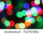 colorful christmas holiday... | Shutterstock . vector #763707856