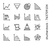 set of premium diagram icons in ... | Shutterstock .eps vector #763709104