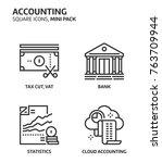 accounting  square mini icon... | Shutterstock .eps vector #763709944