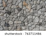 stone wall texture pattern. | Shutterstock . vector #763711486