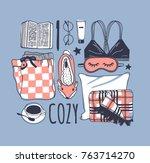 hand drawn fashion illustration.... | Shutterstock .eps vector #763714270