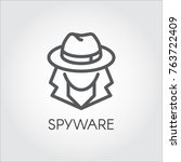 spyware icon in outline design. ... | Shutterstock .eps vector #763722409