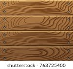 wooden texture  boards with... | Shutterstock .eps vector #763725400