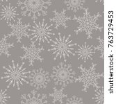 christmas seamless pattern with ... | Shutterstock .eps vector #763729453