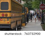 american school bus  and do not ... | Shutterstock . vector #763732900