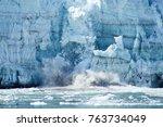 alaskan glacier melting | Shutterstock . vector #763734049