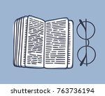hand drawn illustration.... | Shutterstock .eps vector #763736194