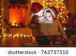merry christmas  family mother... | Shutterstock . vector #763737310