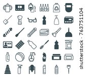set of 36 plastic filled and... | Shutterstock .eps vector #763751104