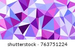 abstract triangular low poly... | Shutterstock . vector #763751224